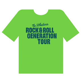 ROCK & ROLL GENERATION TOUR Tシャツ[GREEN]