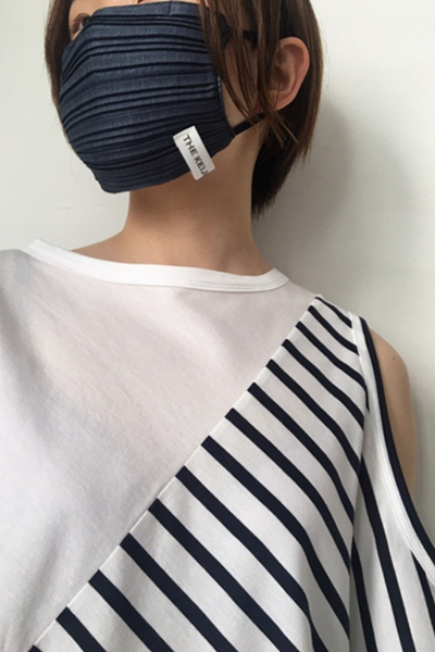 THE KEIJI PLEATS MASK [INDIGO]