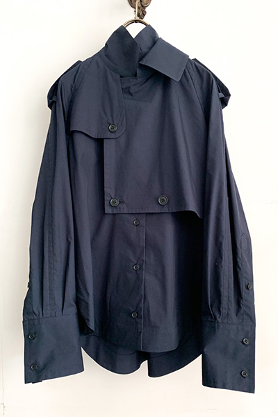 TRENCH JACKET SHIRT [NAVY]