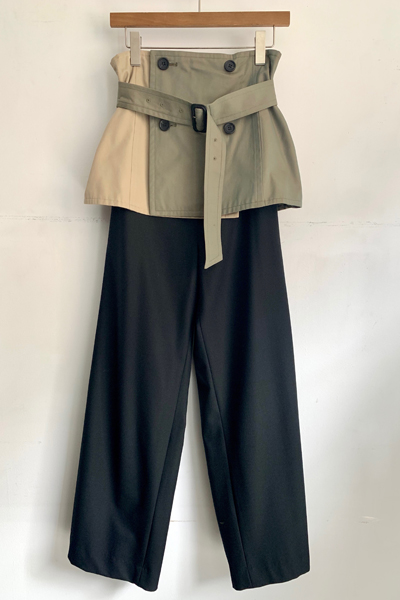 TRENCH PANEL BELTED  PANTS