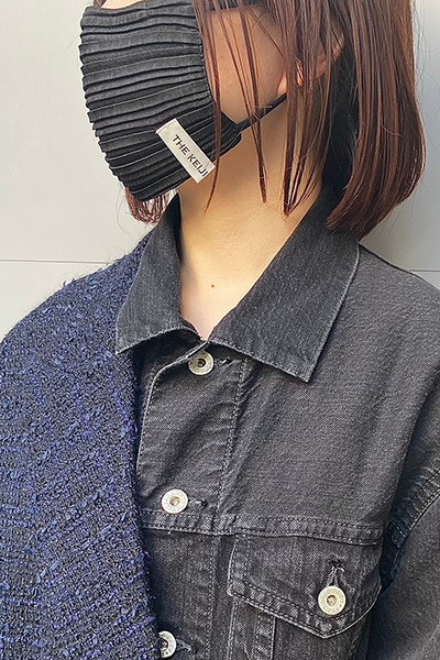 THE KEIJI PLEATS MASK [BLACK]