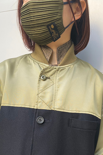 IJIIT PLEATS MASK [KHAKI×NAVY]