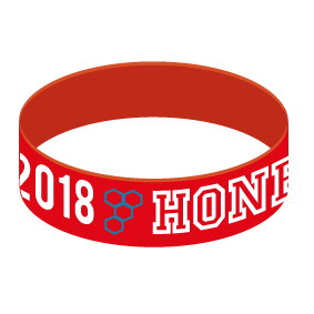 HONEY SILICON WRISTBAND RED