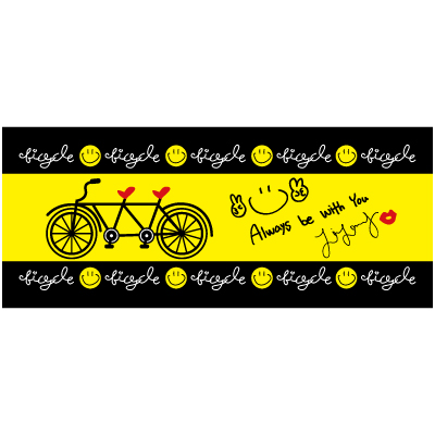 2016 bicycle 3rd Face Towel