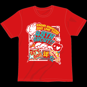 48TH SHOUT!年女ツアー Tシャツ[レッド]