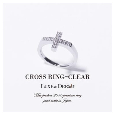 CROSS RING (CLEAR)