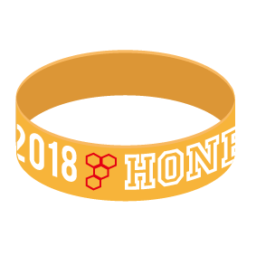 HONEY SILICON WRISTBAND ORANGE