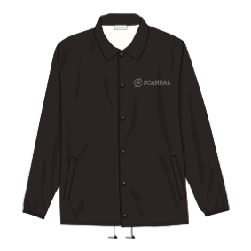 SCANDAL COACH JACKET BLACK