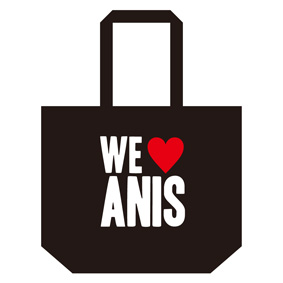 Anis xTommy ��WE LOVE ANIS�� TOTE BAG L��BLACK��