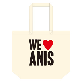 Anis xTommy ��WE LOVE ANIS�� TOTE BAG L��NATURAL��